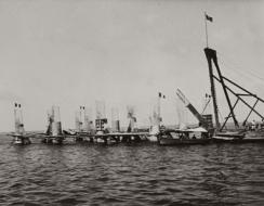 Hafun costruzione del pontile per il trasporto del sale
