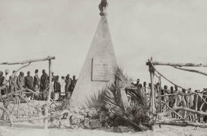 INAUGURAZIONE DEL MONUMENTO FUNEBRE DEL CAP. SANDRO GATTI