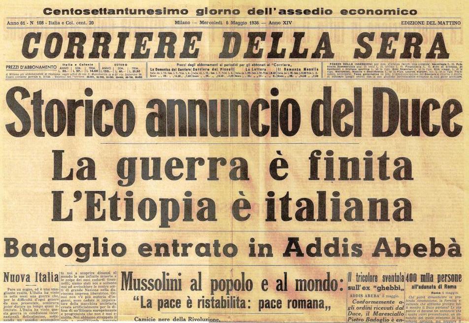 Corriere-della-Sera-6-maggio-1936_Mussolini_Guerra-Etiopia
