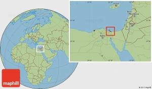 Savanna style location map of Bur Said (Port Said).