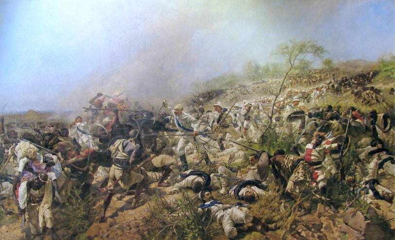 La battaglia di Dogali, olio su tela, cm 550 x 900, 1888-1896, Roma, Galleria Nazionale d_Arte Moderna