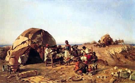 Michele Cammarano, Eritrea, olio su tela, cm 92 x 150, 1893, Valdagno, Raccolta Gaetano Marzotto