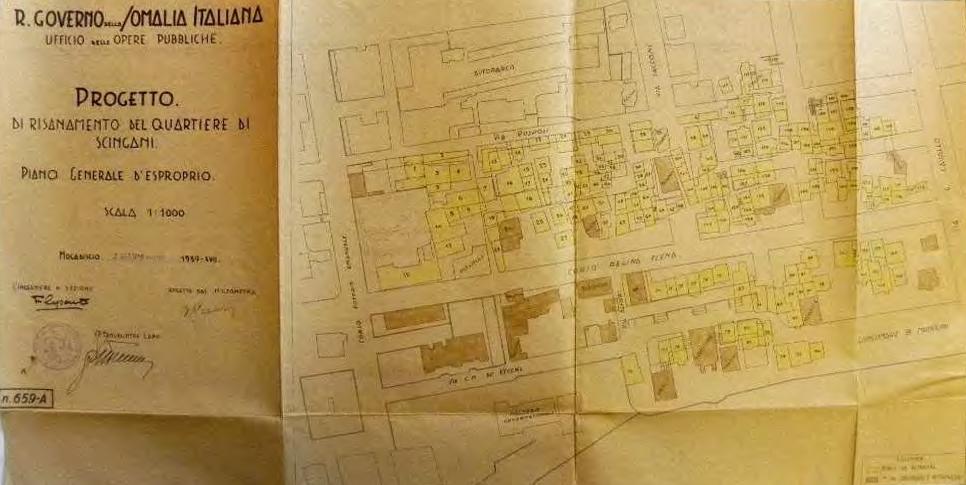 Mogadiscio, progetto di risanamento del quartiere Scingani- piano di esproprio