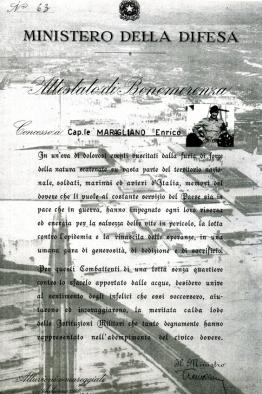 1966 Benemerenza alluvione toscana 4 Nov