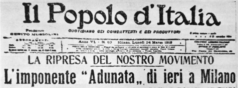 Il Popolo d'Italia_24marzo1919_Fascismo_San Sepolcro
