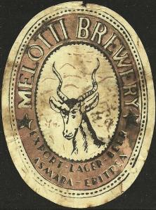 1945 birra MELOTTI BREWERY