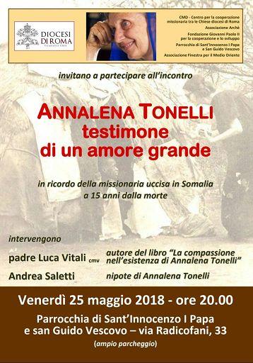 Chiesa/A Roma convegno su Annalena Tonelli, uccisa in Somalia 15 anni fa