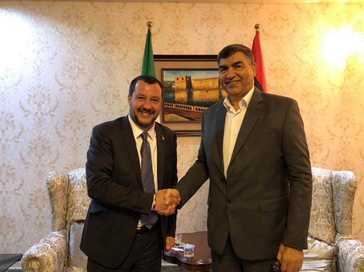 Matteo Salvini_Abdulsalam Ashour_Missione Libia (3)