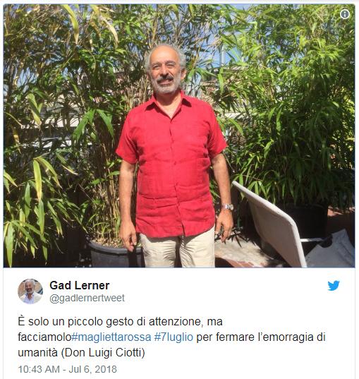 Gad_Lerner_maglietta rossa_rolex