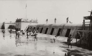 Genale lavori di costruzione della diga sull'Uebi Scelebi settembre 1926