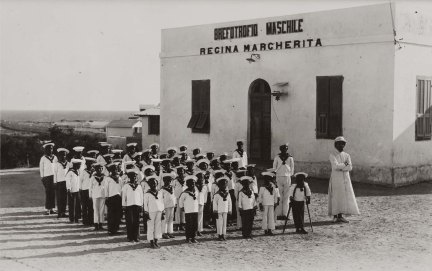Mogadiscio Allievi del Brefotrofio maschile Regina Margherita