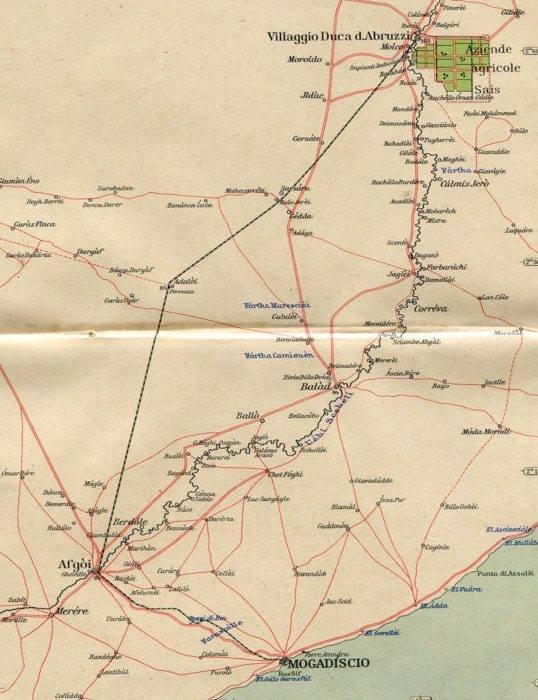 ferrovia somalia_Mogadiscio-Afgoi-Villaggio Duca degli Abruzzi