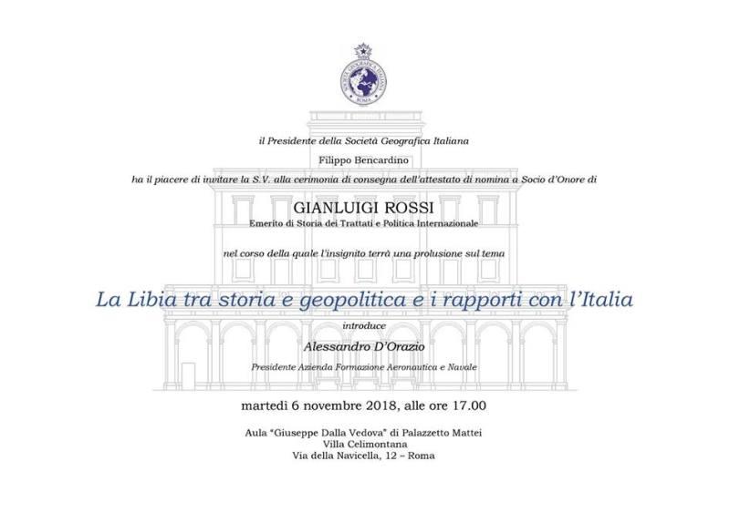 Conferenza 6 novembre 2018_Gianluigi Rossi_Libia_Soc.Geografica Italiana