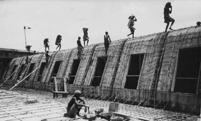 Genale lavori di costruzione della diga sull'Uebi Scebeli settembre 1926