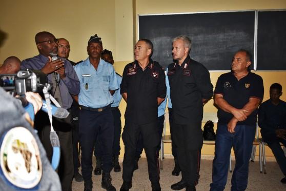 autorità presenti alla prima conferenza nelle scuola gibuti