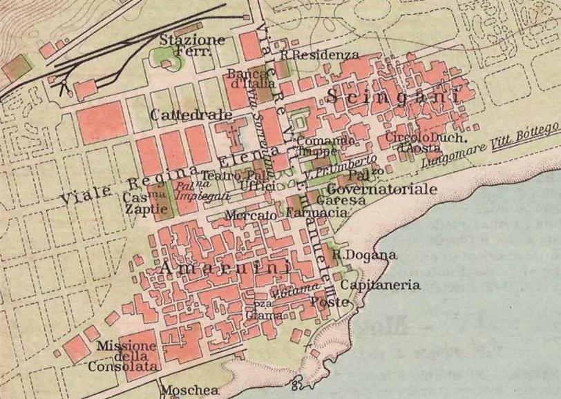 mogadiscio. mappa