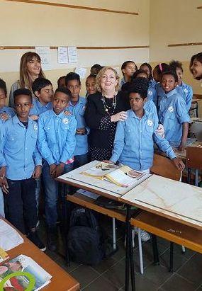 Emanuela Del Re in visita ad Asmara