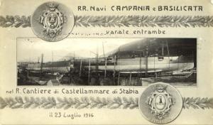 8-Le navi Campania e Basilicata sullo scalo a Castellammare di Stabia (Da www.lavocedel marinaio.com)