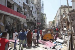 Explosion in Mogadishu, Somalia