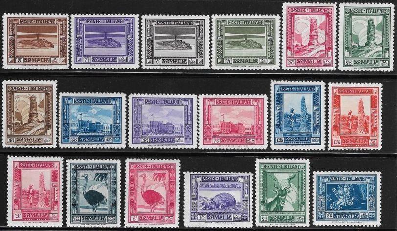 Somalia italiana_francobolli_serie pittorica