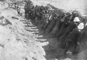 trincea italiana nell'Oasi di Tripoli 1911