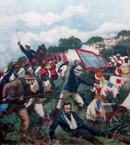Battaglia di Tucruf (1896) Gli ufficiali italiani indossano la giubba della grande uniforme speciale