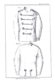 Giubba Mod. 1894 per ufficiali del Regio Corpo Truppe Coloniali (Tavola)