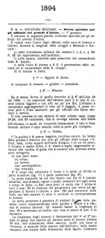 Giubba Mod. 1894 per ufficiali del Regio Corpo Truppe Coloniali (Testo pag. 1)