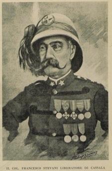 Il Col. Francesco Stevani in grande uniforme speciale