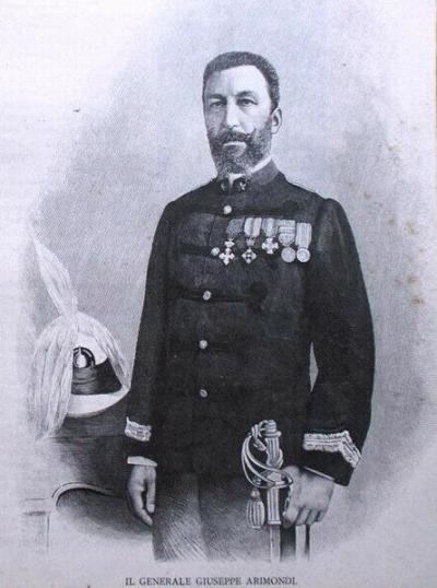 Il generale Giuseppe Arimondi in grande uniforme speciale (1896)