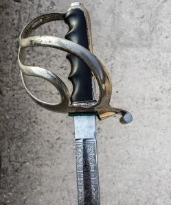 Particolare dell'impugnatura di una sciabola Mod. 1888 da ufficiale (1890 ca.) Collezione Filippo Del Monte