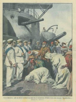 tribù libeche in atto di sottomissione