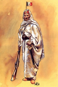 Capo di una banda irregolare libica (1912) - Illustrazione di Andrea Viotti
