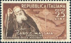 Cardinal Massaia tra i Galla_Francobollo