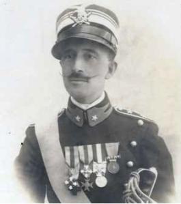 Federico Sirolli con i gradi di tenente colonnello degli Alpini (1917)