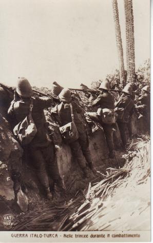 Guerra italo-turca - fanti in trincea
