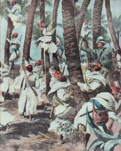 La banda del Garian occupa postazioni di tiro sugli alberi su ordine del tenente Sirolli (1912)