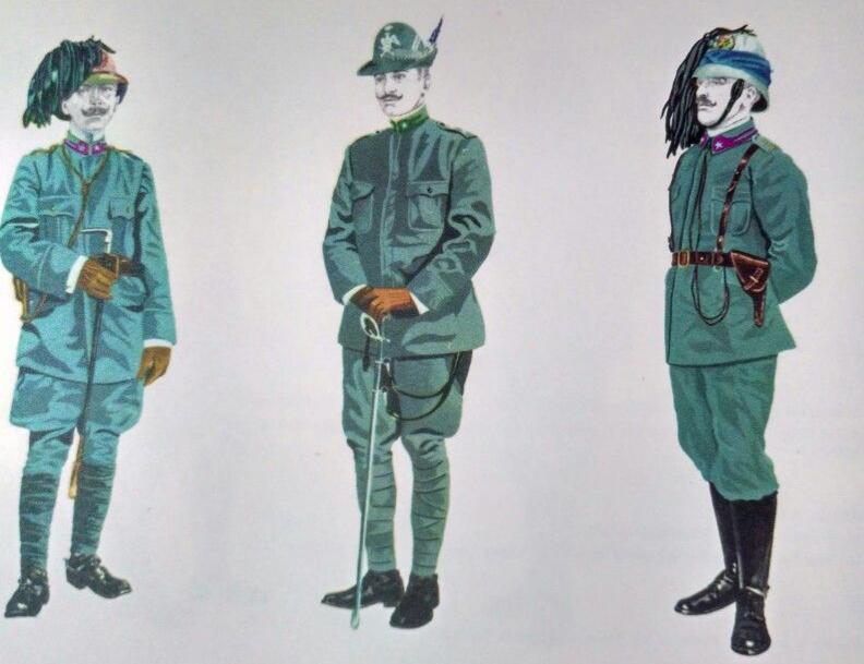 Ufficiali Alpini e Bersaglieri (1911-1912)