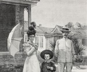 Giuseppe Salvago Raggi in Cina con la moglie ed il figlio