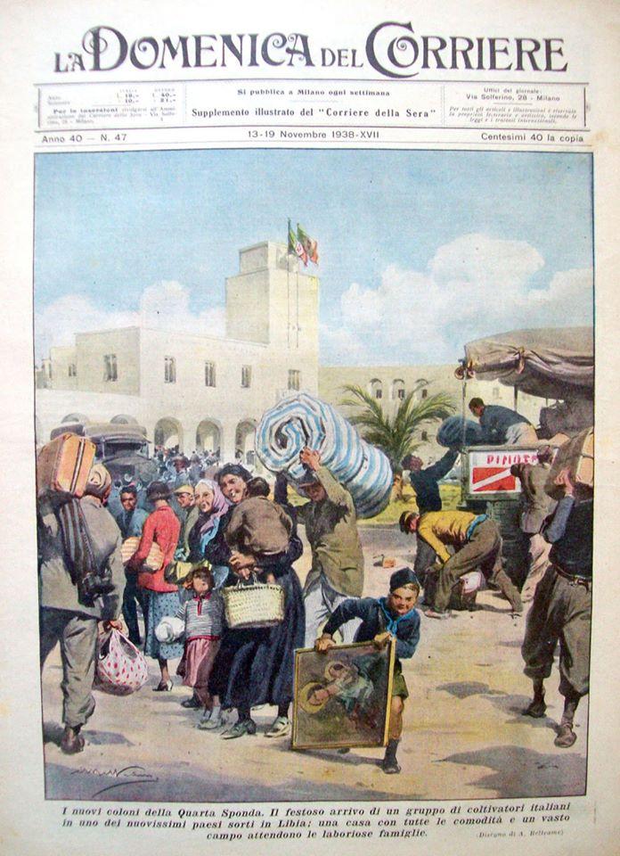 1938. Coloni e agricoltori italiani emigrano in Libia