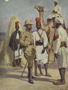 Ufficiale italiano con ascari eritrei