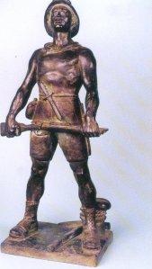 bozzetto in bronzo con il quale Bargiggia vinse il premio nel 1937