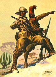 Soldato italiano e coloniale