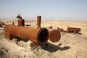 5 - Dallol oggi caldaia di locomotiva abbandonata (Da Internet)