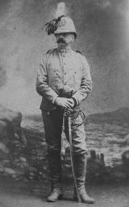 Colonnello Coriolano Ponza di San Martino in uniforme da comandante del 7 Reggimento Bersaglieri di stanza in Africa (1887)