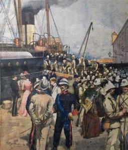 La partenza del Corpo di Spedizione per la Cina (19 luglio 1900)