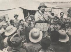 Balbo discorso alle truppe in Libia