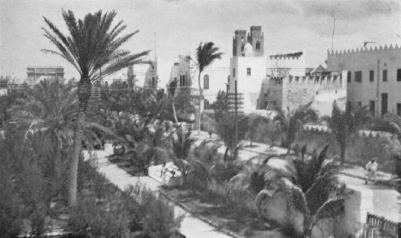 1931,Mogadiscio-Nuove piantagioni nel giardino del palazzo Governatoriale
