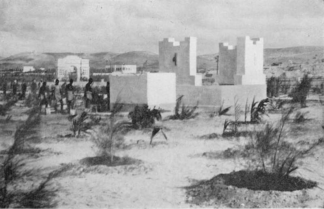 1931,Mogadiscio-Pozzi e vasche per l'irrigazione presso le carceri