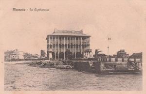 Capitaneria di porto (Da cartolina) Non è la sede originaria che si trovava all'interno dell'abitato lontano dal mare